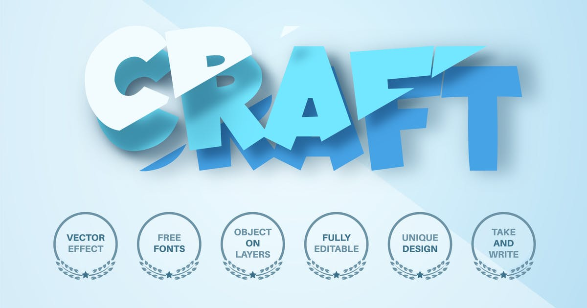 Download Cut blue paper - editable text effect,  font style by rwgusev