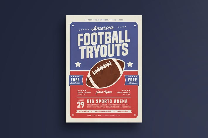Thumbnail for Football Tryouts Flyer