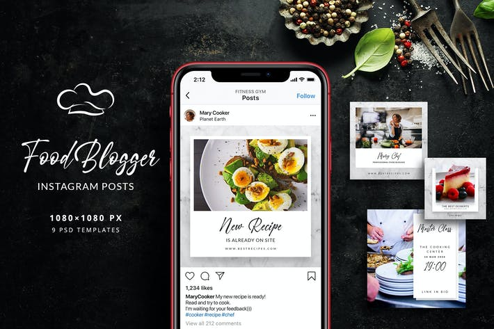 Thumbnail for Food Blogger - Articles Instagram
