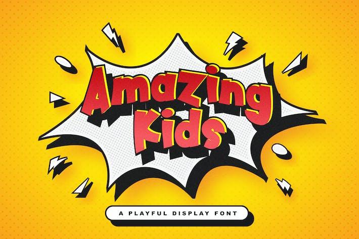 Thumbnail for Amazing Kids - Fuente de pantalla juguetona
