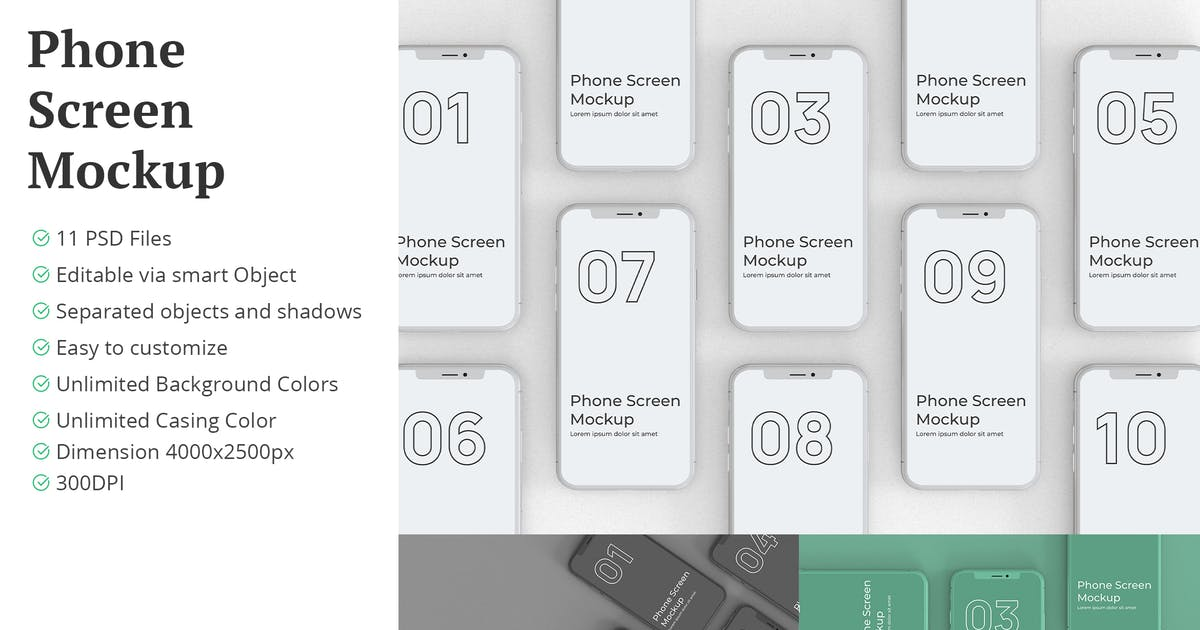Download Phone Screen Mockup Unlimited Casing Color by erdp
