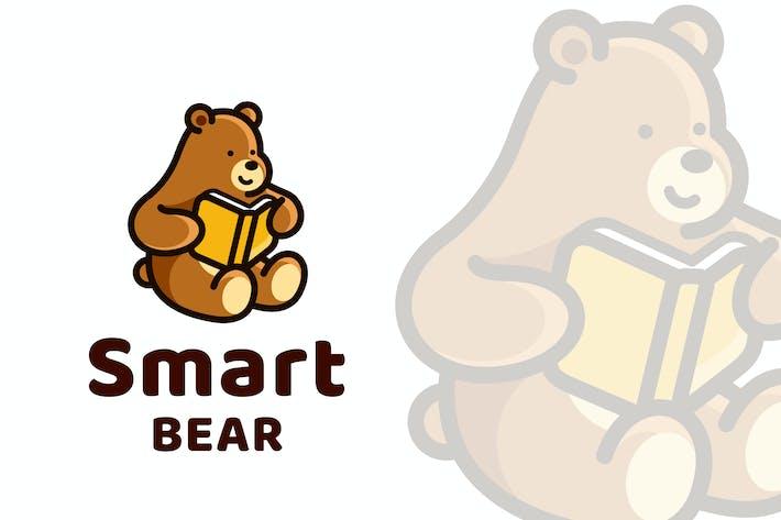 Thumbnail for Smart Bear Cute Logo Template