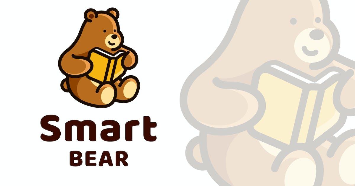 Download Smart Bear Cute Logo Template by IanMikraz