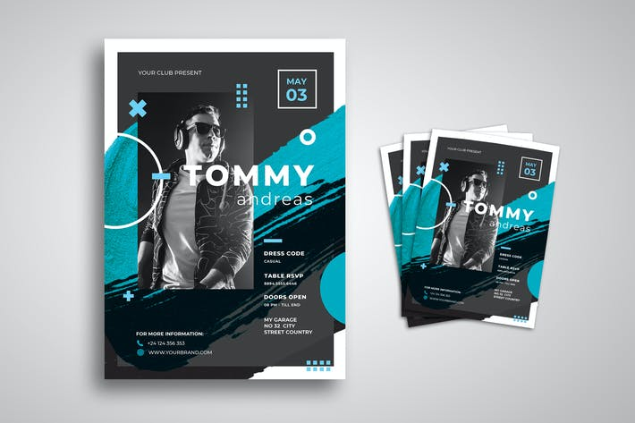 Thumbnail for Flyer de música para DJ