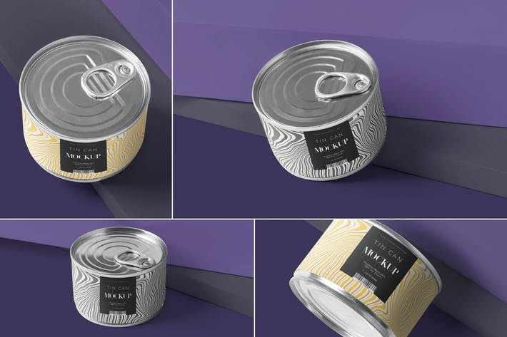 Thumbnail for Small Food Tin Can Mockups