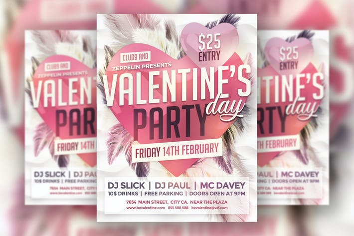 Thumbnail for Valentine's Day Flyer Template Vol.2