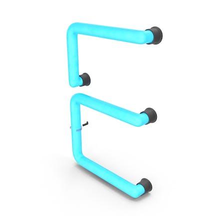 Neon-Buchstabe E