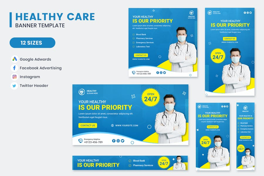 Healthy Care Banner Template