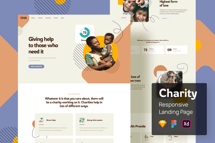 Charity Responsive Landing Page