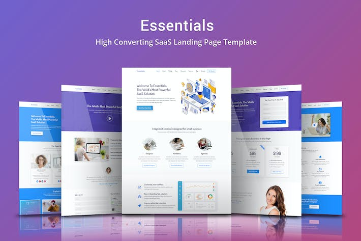 Thumbnail for Essentials - High Converting SaaS Landing Page