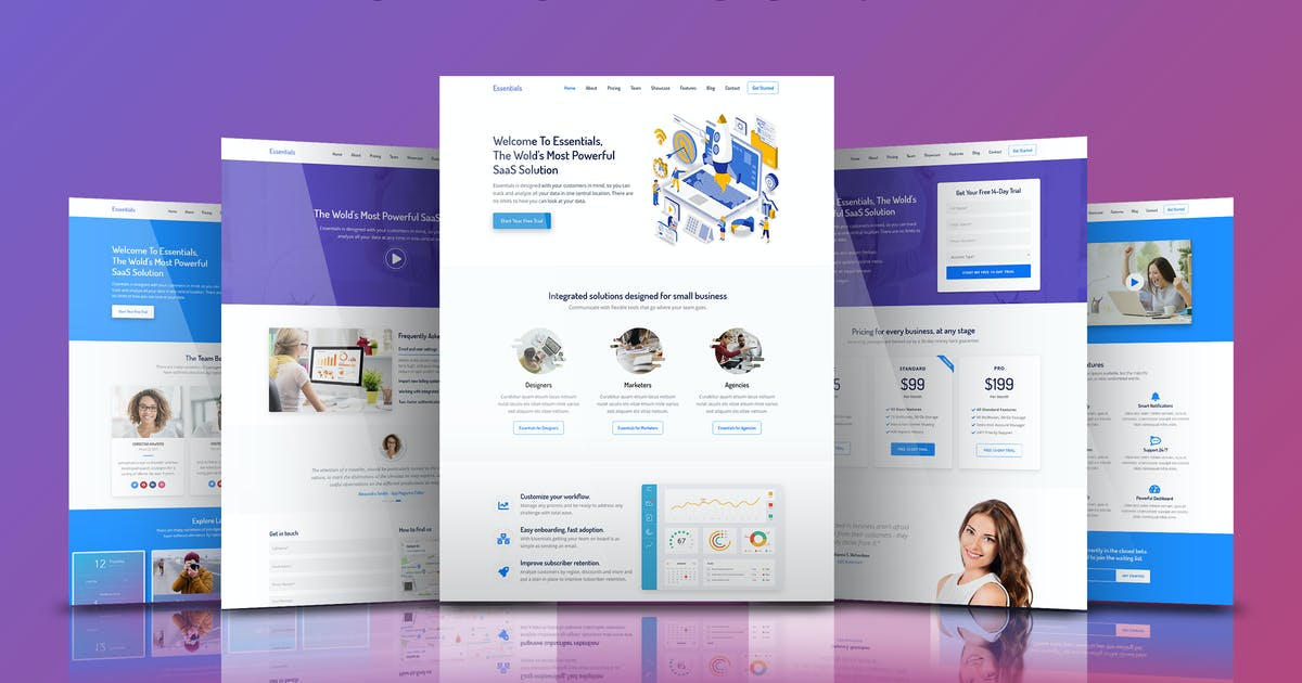 Download Essentials - High Converting SaaS Landing Page by Epic-Themes