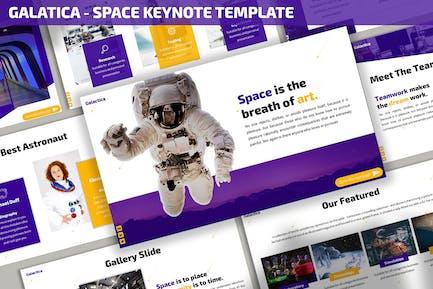 Galatica - Plantilla de Keynote espacial