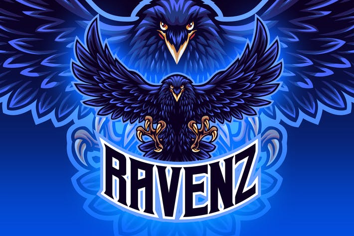 Thumbnail for Raven Esport Mascot Logo
