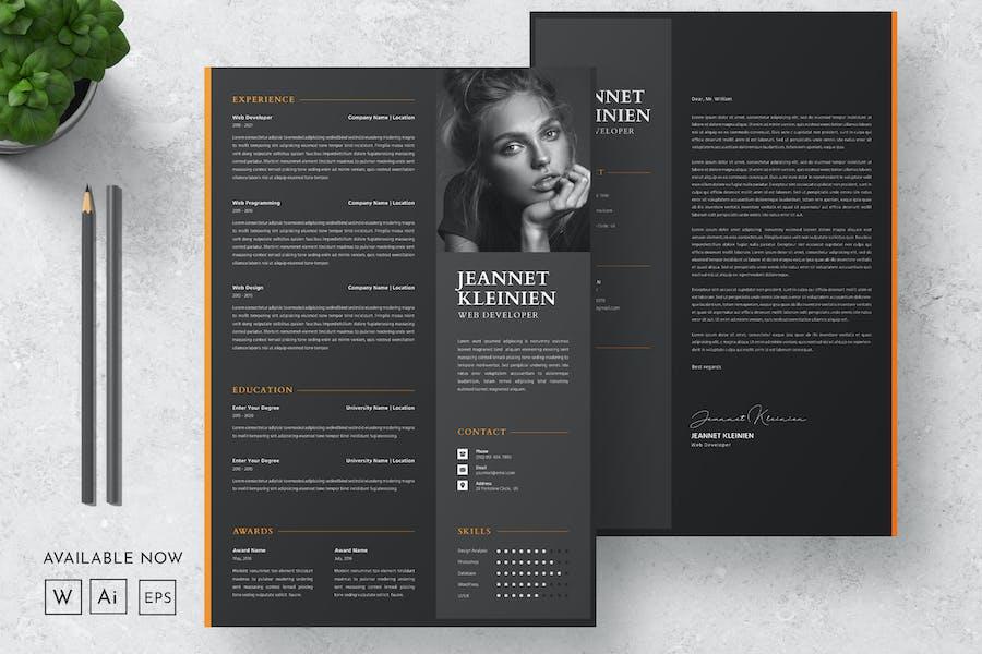 Black Resume CV Design