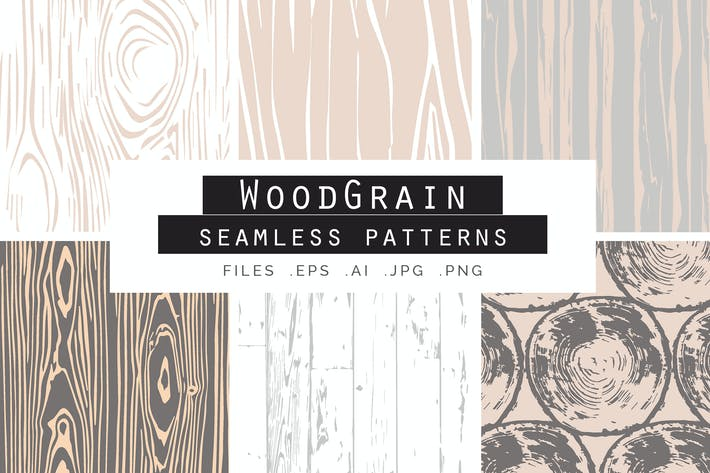 Thumbnail for Woodgrain Seamless Vector Patterns