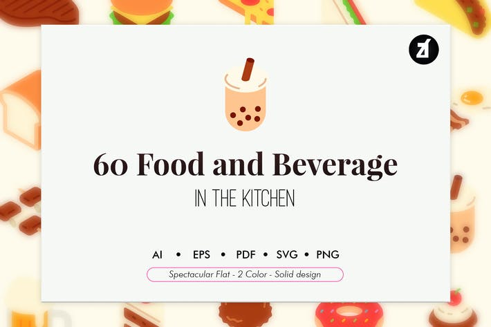 Thumbnail for 60 Food and beverage elements pack