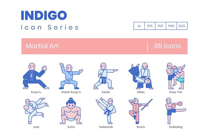 Thumbnail for 85 Martial Art Icons | Indigo Series