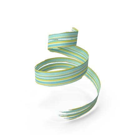 Pincel 3D Stroke amarillo y verde azulado