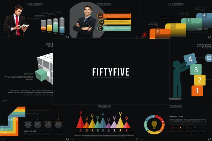 Thumbnail for Fifty Five - Powerpoint Template