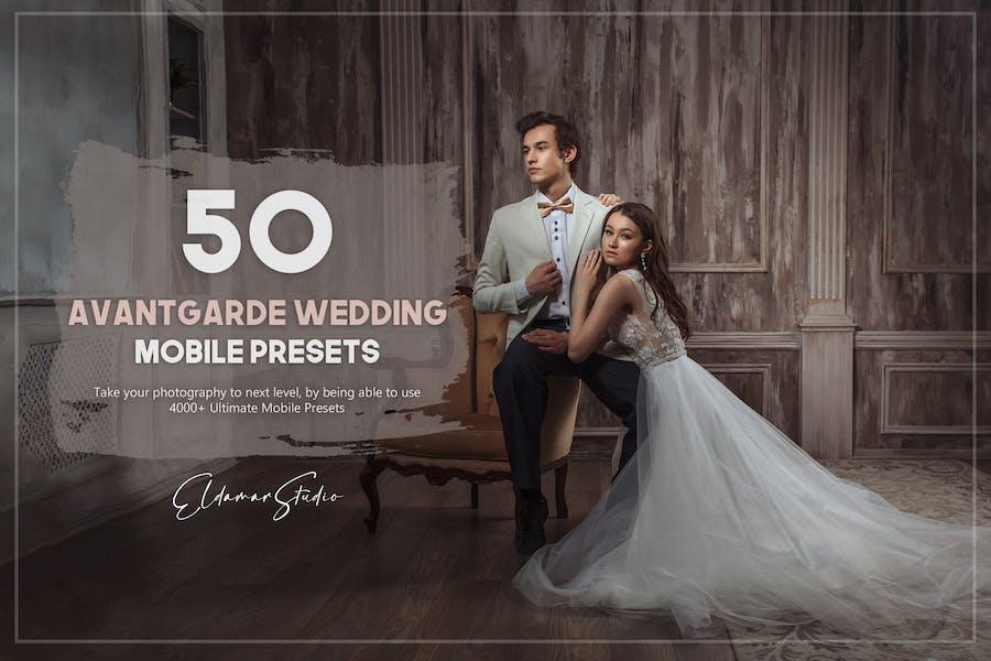 50 Avantgarde Wedding Mobile Presets Pack