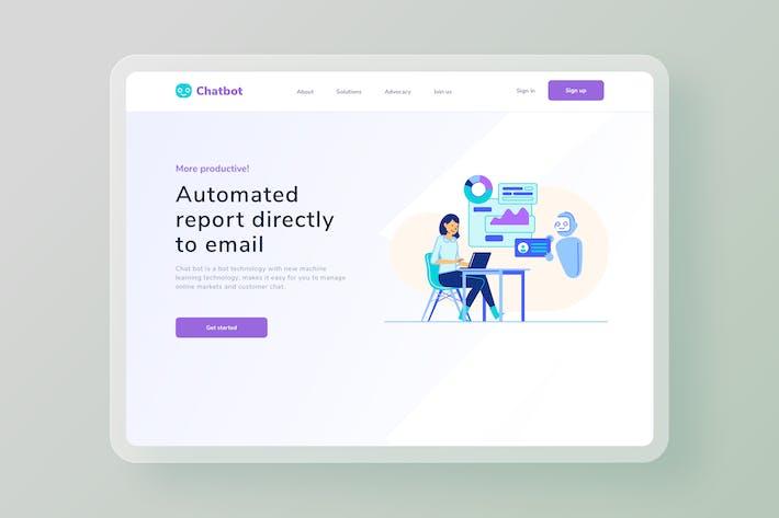 Big data Automated report website Illustration
