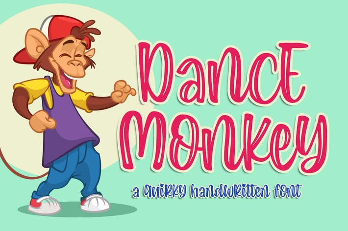 Thumbnail for Dance Monkey a Quirky Font
