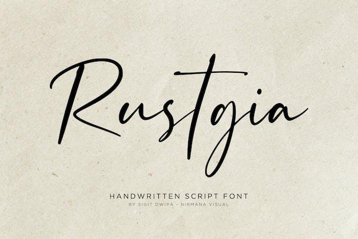 Rustgia - Handwritten Font