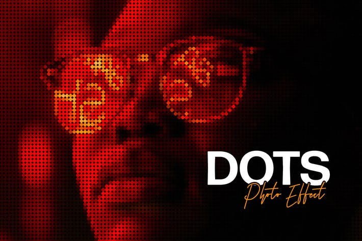 Thumbnail for Matrix Dot Effect for Photoshop