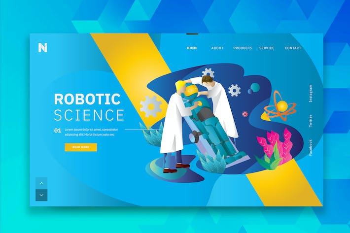 Thumbnail for Robotic Science Web Header PSD- und AI-Vorlage