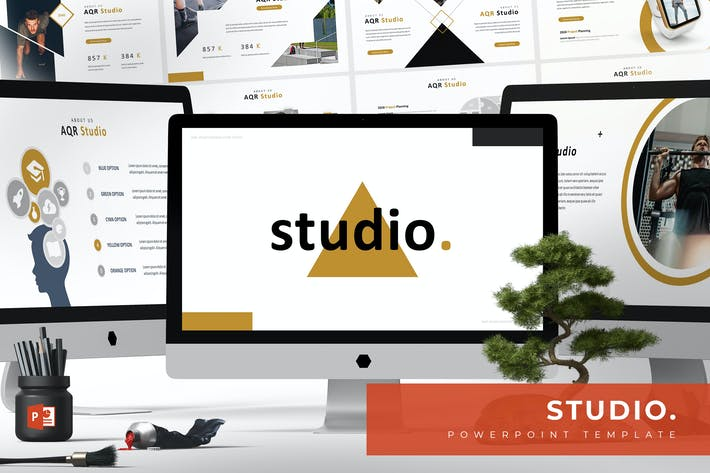 Thumbnail for Studio - Powerpoint Template