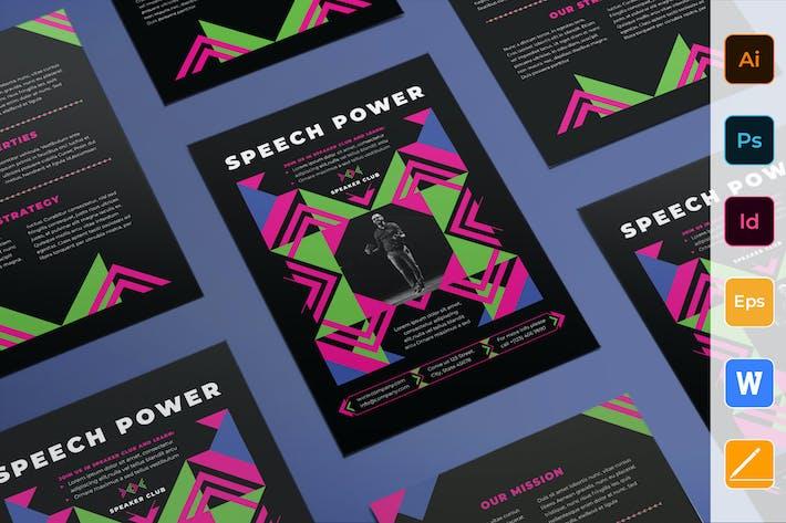 Speaker Flyer