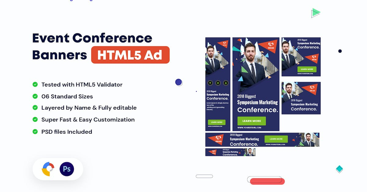 Event Conference HTML5 Banners Ad by iDoodle