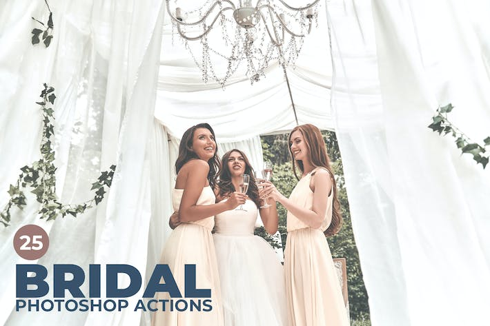 Thumbnail for 25 Bridal Photoshop Actions