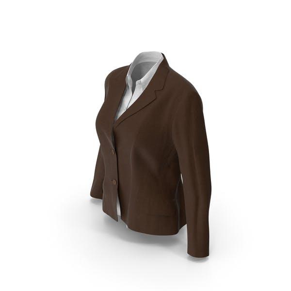 Женская куртка рубашка Браун