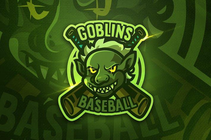 Thumbnail for Goblins Baseball - Mascot & Sports Logo