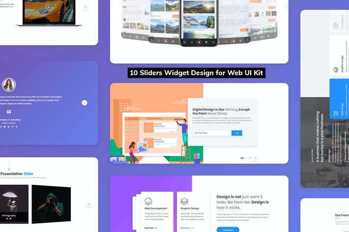 Thumbnail for 10 Sliders Widget Design for Web-UI Kit