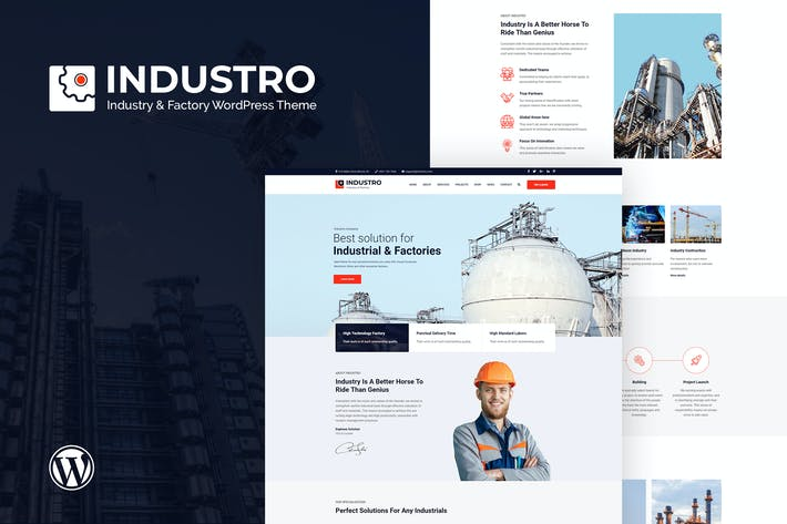 Cover Image For Industro - Industry & Factory WordPress Theme