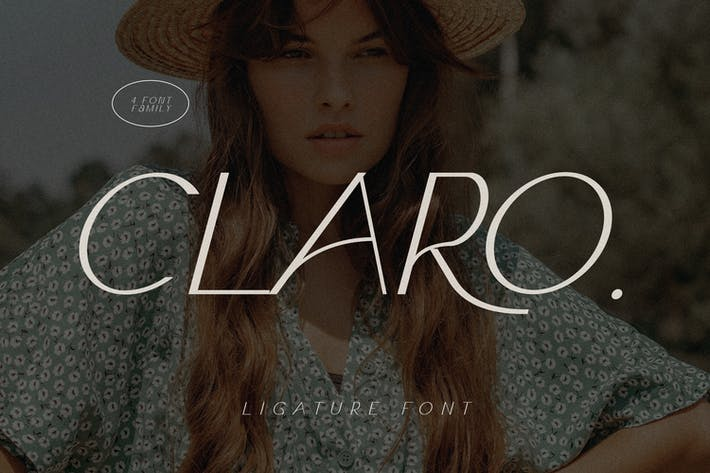 Thumbnail for Claro - Elegante familia tipográfica