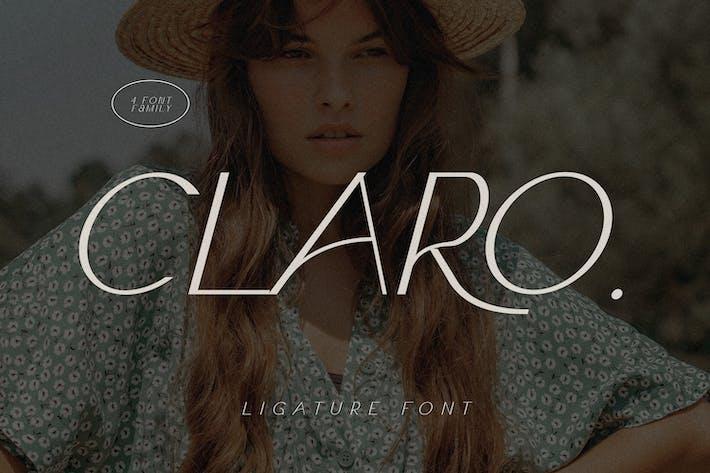 Thumbnail for Claro - Elegant Font Family
