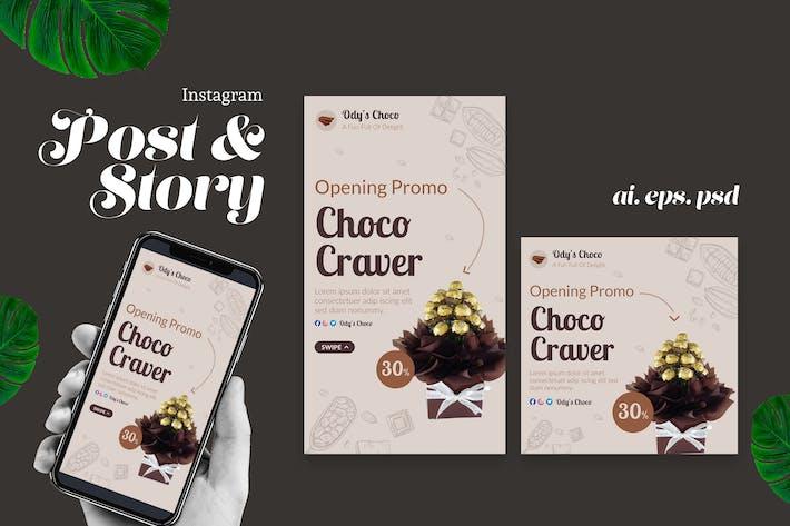 Thumbnail for Promoción de pastel de chocolate Instagram Story Post