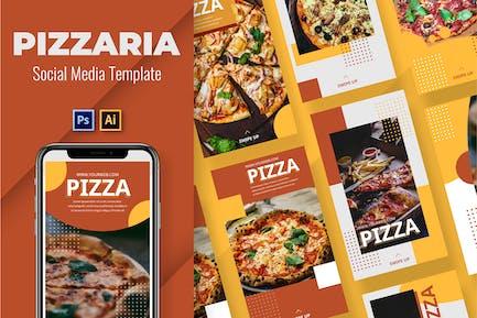 Pizzaria Social Media Template