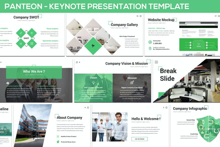 Thumbnail for Panteon - Keynote Presentation Template