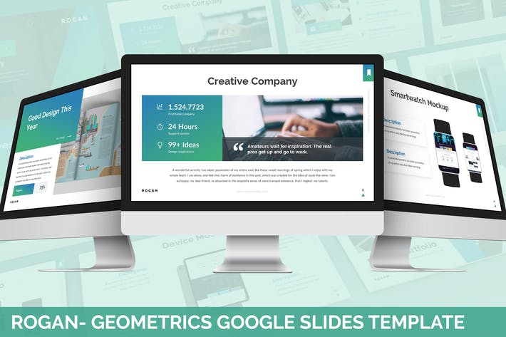 Rogan - Geometrics Google Slides Template