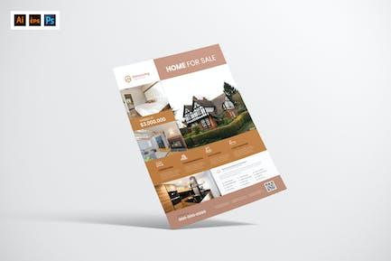House For Sell Flyer Design