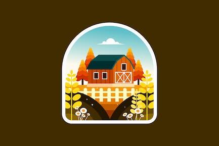 Farmhouse barn in the countryside
