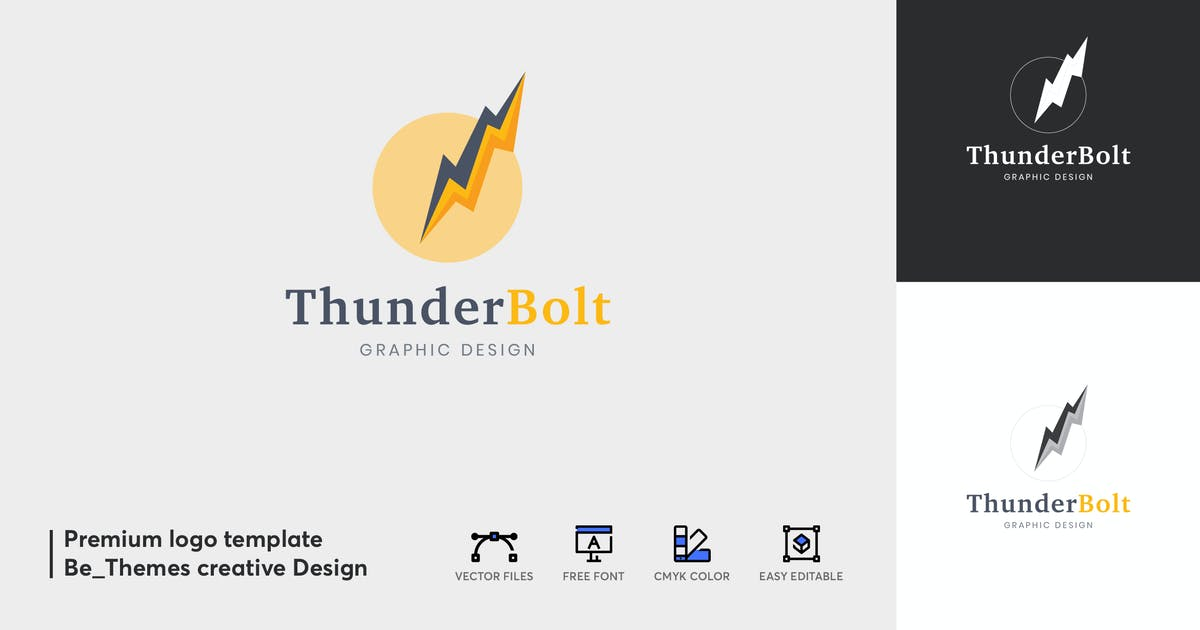 Download Thunder Bolt Logo by Be_Themes
