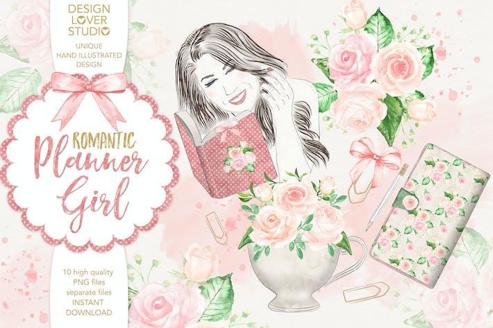Thumbnail for Watercolor Planner Girl design