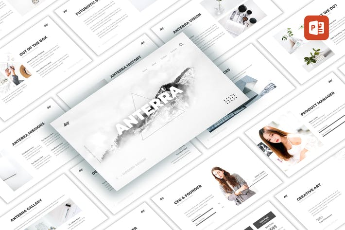 Thumbnail for Anterra - Minimalism PowerPoint Template