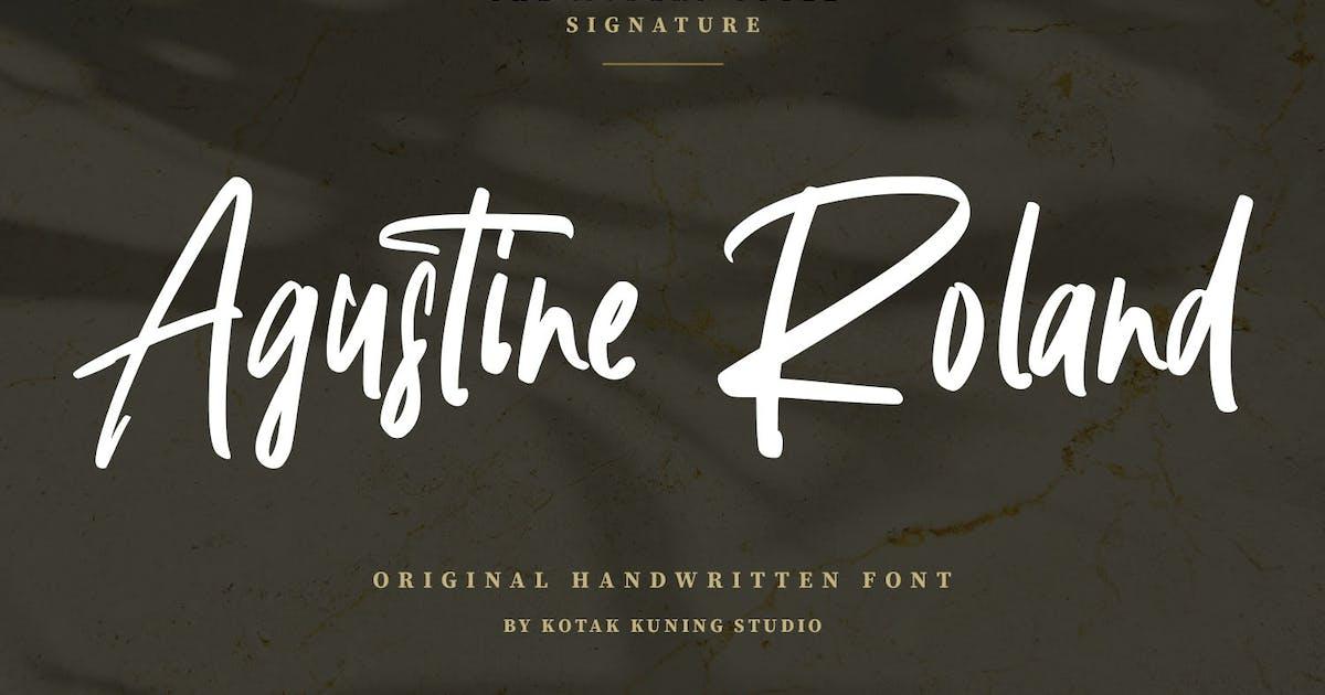 Download Agustine Roland - Signature Handwritten Font by kotakkuningstudio