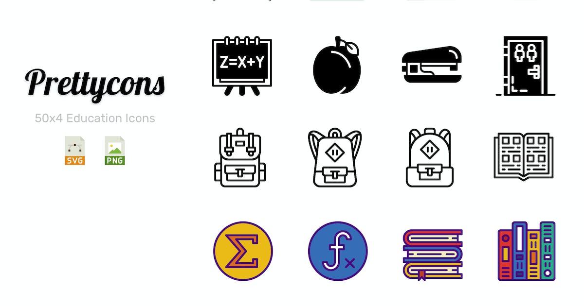 Prettycons - 200 Education Icons Vol.1 by Prettycons